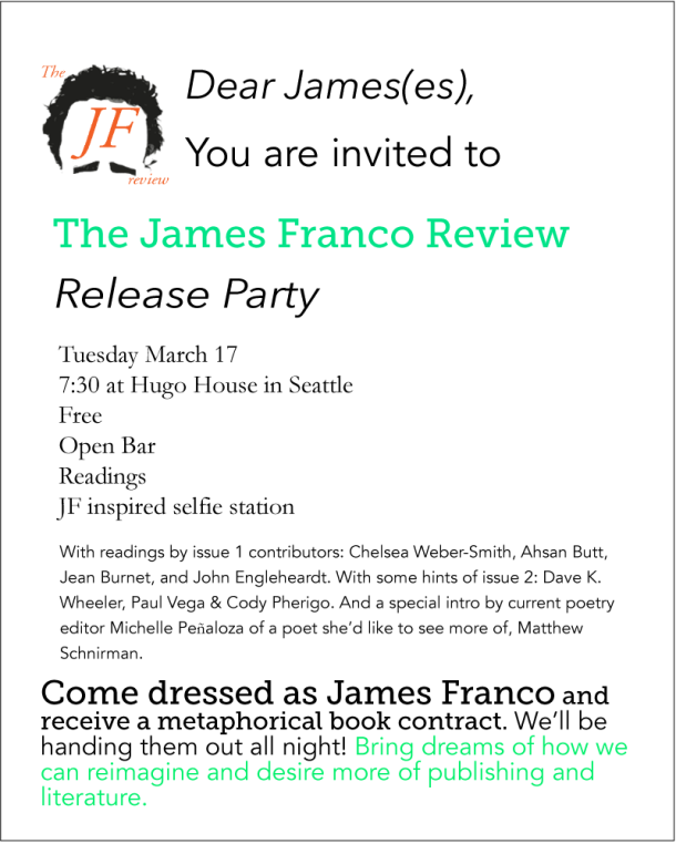Release party March 17 at Hugo House