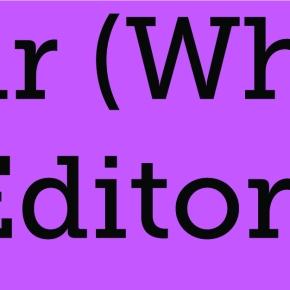 Editorial: Dear (white)editors,